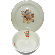 1940's Raggedy Ann and Andy Dish and Bowl