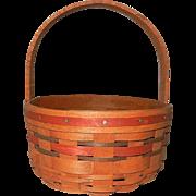Unusual 1989 Longaberger Basket with Dark Stain