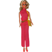 1972 Lovely Mattel Blonde Walk Lively Barbie in Original Outfit - Red Tag Sale Item