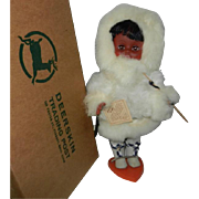 "Vintage Cute 12"" Carlson Souvenir Eskimo Doll in Bunny Outfit with Box"