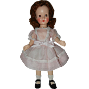 "Early 1950's Effanbee Strung 16"" Honey Doll with Brown Eyes"