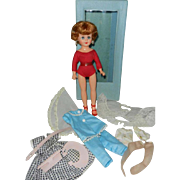 1958 Vogue Jan Doll in Case with Extra Clothes