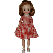 """American Character 8"""" Betsy McCall Doll in #9201 """"Little Cook"""" Dress, Panties & Shoes"""
