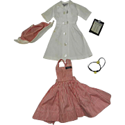 1960's Ideal Tammy HTF #9120-7 Nurse's Aide Outfit with 3 Tongue Depressors