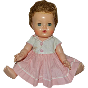"""13"""" American Character Tiny Tears with Rock-a-Bye Eyes in Original Dress"""