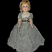 "1950's Wonderful AO 19"" Hard Plastic Walker Doll in Taffeta Gown - Red Tag Sale Item"