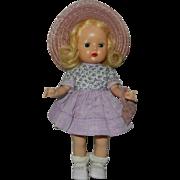 """1950's Nancy Ann Walker """"Muffie"""" Doll in Original Dress"""