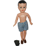 1958 Vogue Jeff Doll in Boxers and Shoes