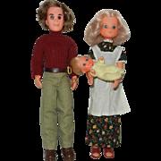 1970's Mattel Sunshine Family in Original Clothes