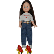 1970's Sasson Ginny by Vogue Dolls with Skates