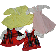 "1960-1970's Vogue Doll Dresses for 11""-12"" Dolls, Ginny Baby, Littlest Angel, Miss Ginny"