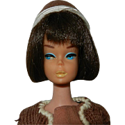 "1960's Mattel Brunette ""American Girl"" Barbie Doll & Clothes"
