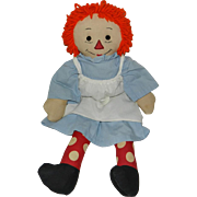 """Darling 19"""" Handmade Raggedy Ann with Black Outline Nose"""