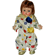 Gorgeous Early 1950's Transitional Sleep Eye Vogue Ginny Boy Clown