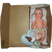 Wonderful Vogue PE Ginnette Doll in Box, With Bottle, Holder & Rattle