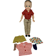 1958 Vogue Jeff Doll in Paisley Shirt & Chinos + Extras