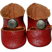 Early 1950's Authentic Vogue Ginny Red Center Snap Shoes
