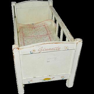 1955 Vogue Ginnette Crib with Mattress & Linens