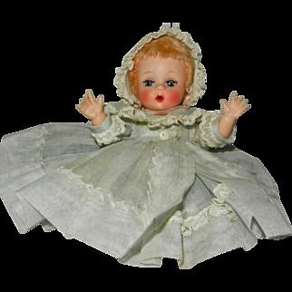 """1950's Madame Alexander """"Little Genius"""" in Original Organdy 4 Piece Ensemble"""