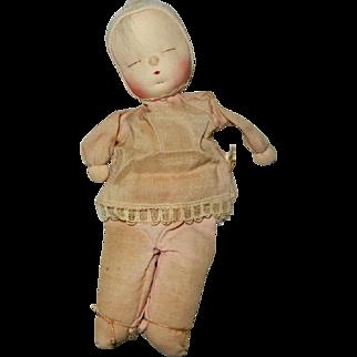 "1957 Twice Tagged 8"" Cloth Sleepy Baby by Shackman"
