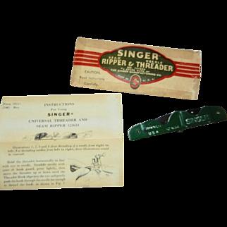 Vintage 1948 Singer Seam Ripper/Needle Threader