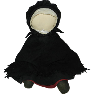 1970's Old Order Amish Doll Hand Crafted Dressed in Winter Attire