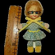 "1967 3 1/2"" Tagged Mattel Mrs. Beasley Doll with Original Eyeglasses"
