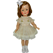 "1950's 19"" Ideal Shirley Temple Doll in Tagged Dress"