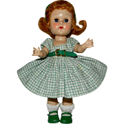 Mid 1950's MLW Vogue Redhead Ginny Doll in Medford Tag Outfit