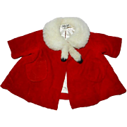 1960's Mattel Chatty Cathy Red Velvet Coat