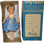 1957 Uneeda Suzette Tiny Teen Doll in Gown in Original Box