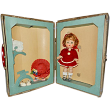 1950's R&B Littlest Angel in Original Ice Skater Outfit in Orig. Suitcase