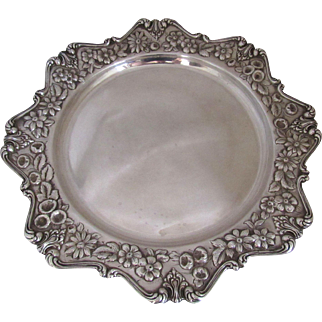 Frank Whiting Sterling Silver Repousse Tray