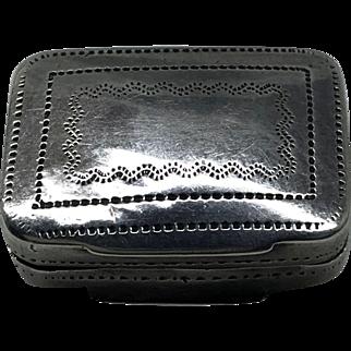 Georgian Period English Sterling Silver Vinaigrette. Birmingham. Early 19th C