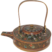 Sake Warmer / Tea Pot Japanese Cloisonne.  Yasuyuki Attributed