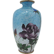 Ota Jinnoei Japanese Ginbari Cloisonne. Meiji.
