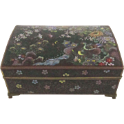 Japanese Cloisonne Box.  Late 19th to early 20th Century