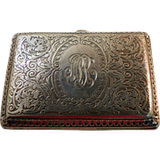 Cigarette or Card Case American Sterling Circa 1910
