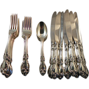 Eight, 4 pc Place Settings.  Gorham Sterling Melrose