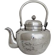 Teapot.  Chinese Export Silver.