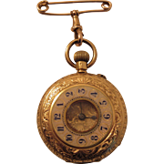 Lady's 18k Yellow Gold Pocket Watch