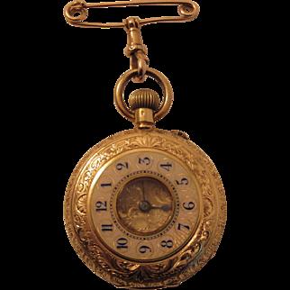 Lady's 18k Yellow Gold Pocket Watch