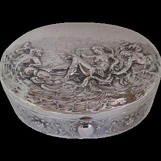 German 800 Silver Box Circa 1890