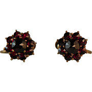 Pair of Victorian Garnet Earrings.