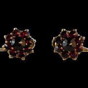 Pair of Victorian Garnet Earrings.