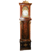 Empire Mahogany and Gilded Grandfather Clock