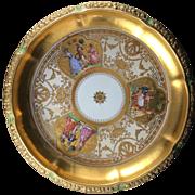 Rare Large Centerpiece Bowl, Saxony, Dresden, Ambrosius Lamm, 1900-1915