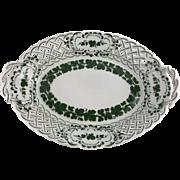 Meissen Green Ivy Pierced Side Serving Dish