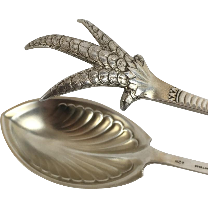 Rare Domestic Sterling by Gorham, Large Tongs, Introduced 1881