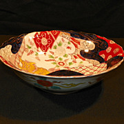 Japanese Imari Porcelain Bowl. 19th Century.